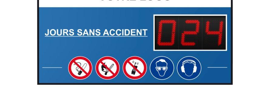 Jours sans accidents du travail