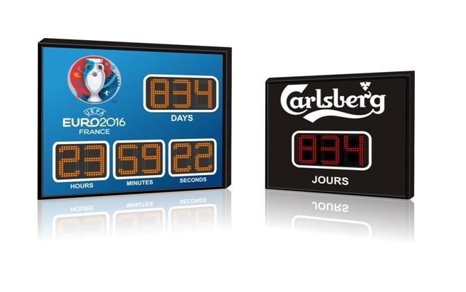 Panneau chronomètre et compte à rebours LED