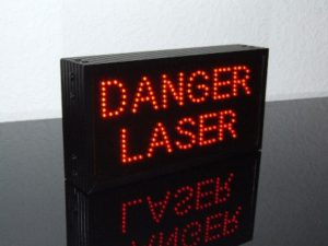 Caisson lumineux à diodes piquées