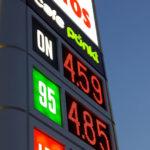 affichage de prix d'essence PM diodes rouges