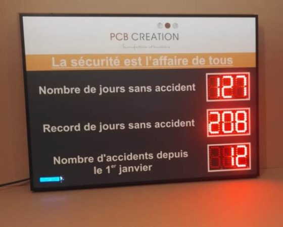 Jours sans accidents -digits 12cm