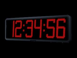 horloge LED heures + minutes + secondes chiffres de 20cm
