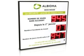 Albioma - Jours sans accident - 8 digit 16cm
