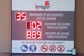 Breger Centre - 8 digit de 12cm de haut