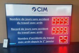 CIM - jours sans accident 10 digit 8cm