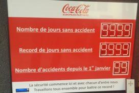 Coca-Cola - jours sans accident - 10 digit 8cm
