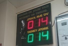 Disney - jours sans accident - 6 digit 16cm