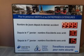 Imerys - jours sans accident- 8 digit 12cm