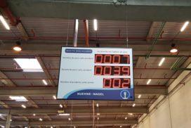 Kuehne Nagel - Panneau jours sans accident - 11 digit 16cm