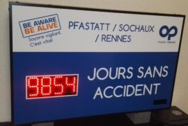 Plastic Omnium - Jours sans accident - 4 digit 8cm