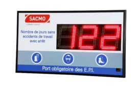 SACMO - Jours sans accident - 3 digit 16cm