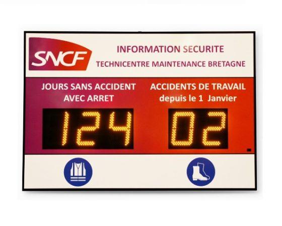 Panneau du Nombre de Jours sans Accident de Travail