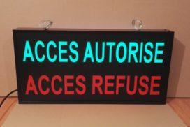 Accès autorisé ou Accès refusé