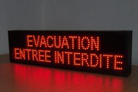 Evacuation Entrée Interdite