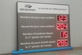 Geismar - Jours sans accident