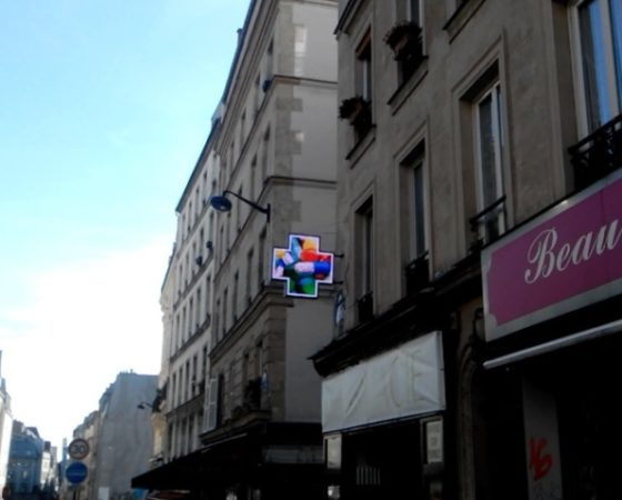 Croix de Pharmacie LED RGB16-12