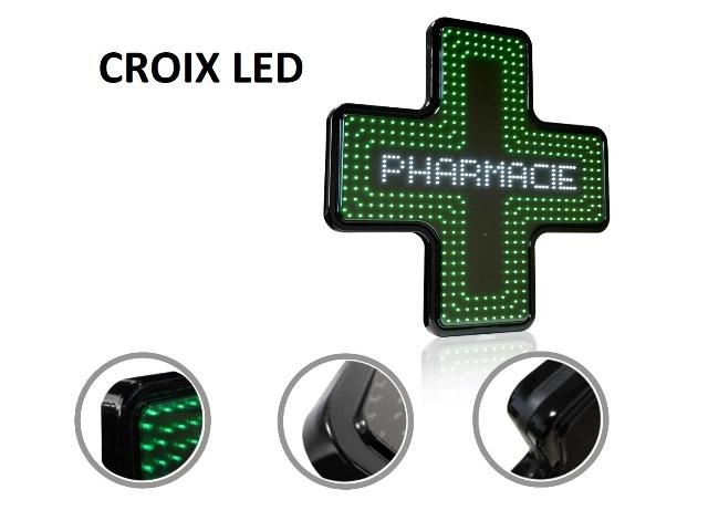 croix LED pour pharmacie